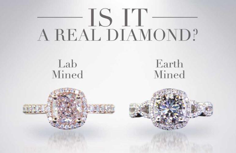 are lab created diamonds real