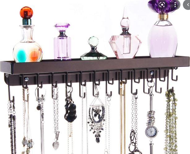 necklace hanging shelf